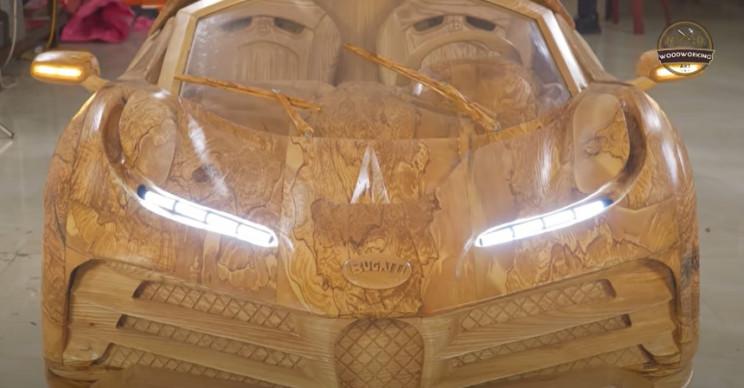 diy wood carved bugatti cr7 complete