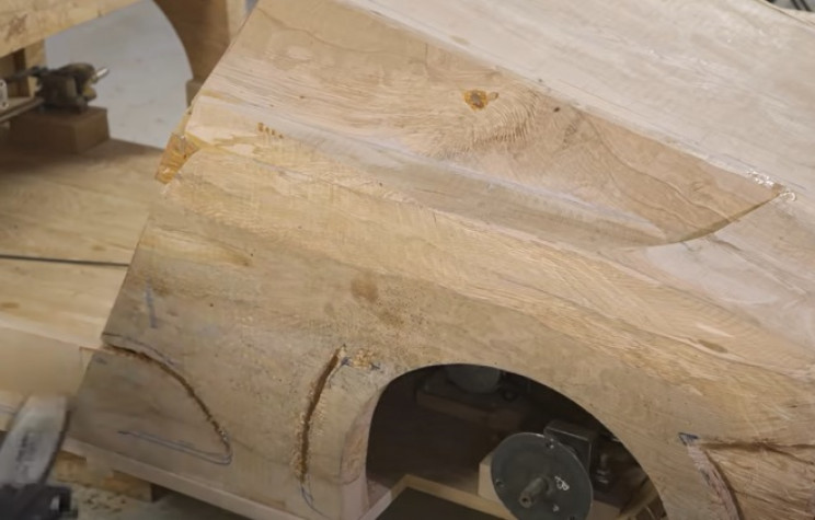 diy carved bugatti main body shape