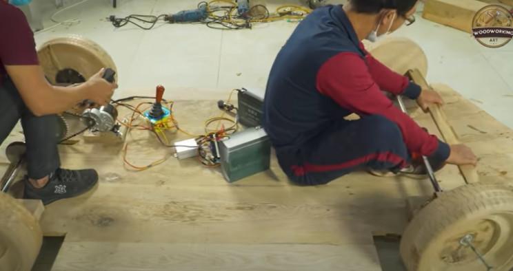 diy carved bugatti drive system