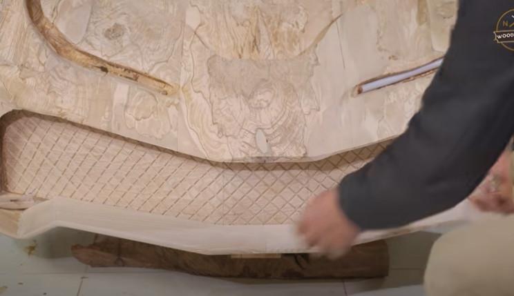 diy carved bugatti front spoiler