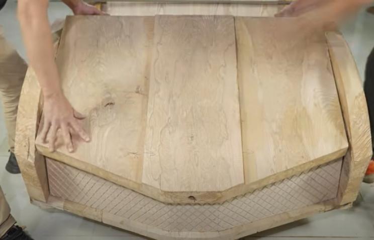 diy carved bugatti front grill