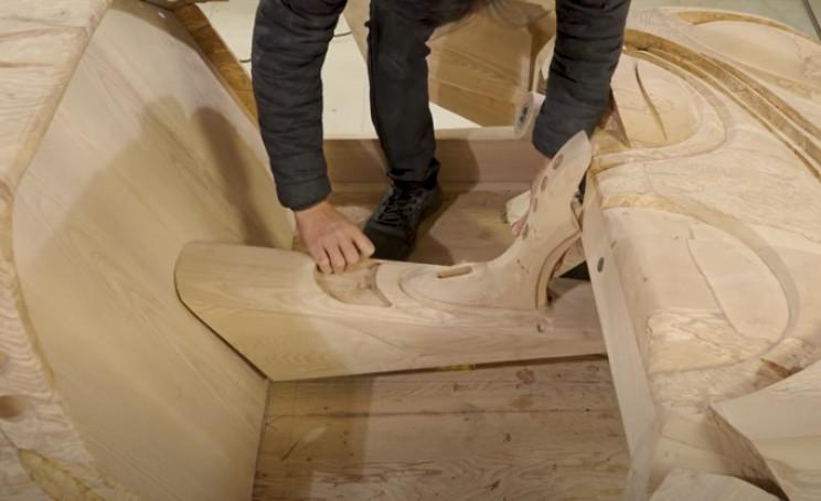 diy wooden bugatti central column