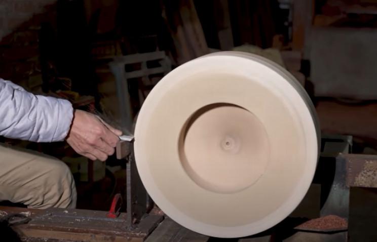 diy wood carved bugatti lathe wheels