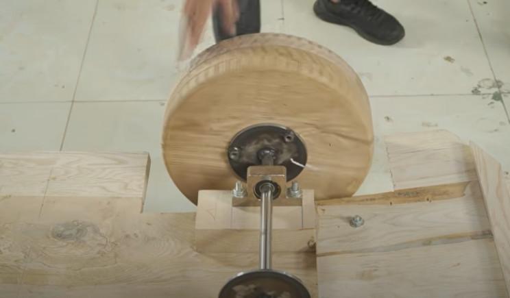 diy carved bugatti mount wheels