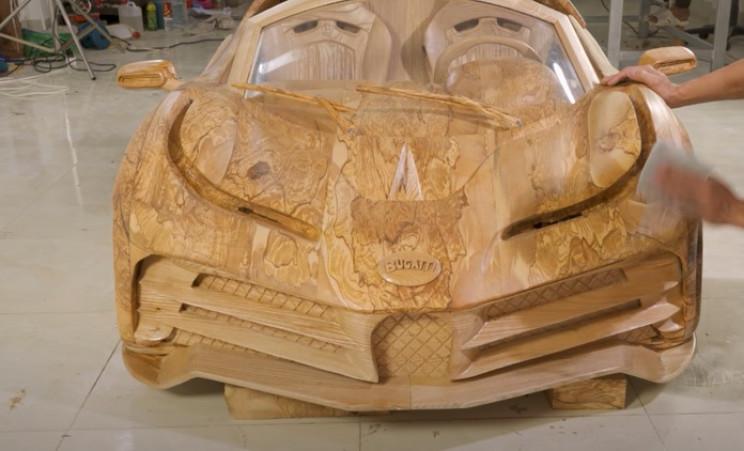 diy wooden bugatti polish