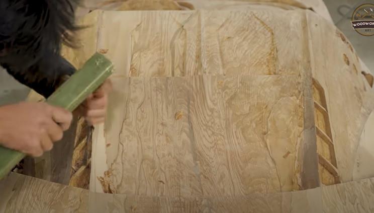 diy wooden bugatti rear details