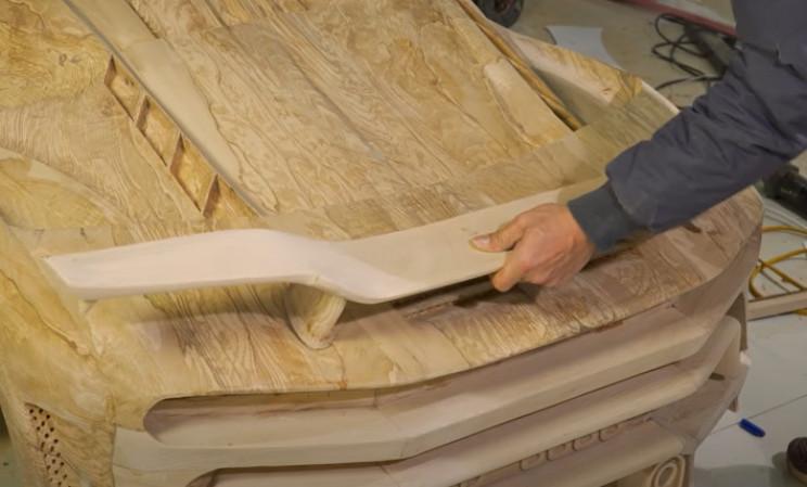 diy wooden bugatti rear spoiler