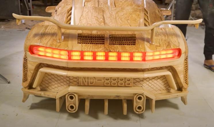 diy wooden bugatti tail lights test