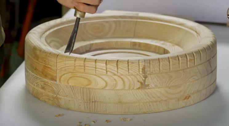 diy carved bugatti tire treads