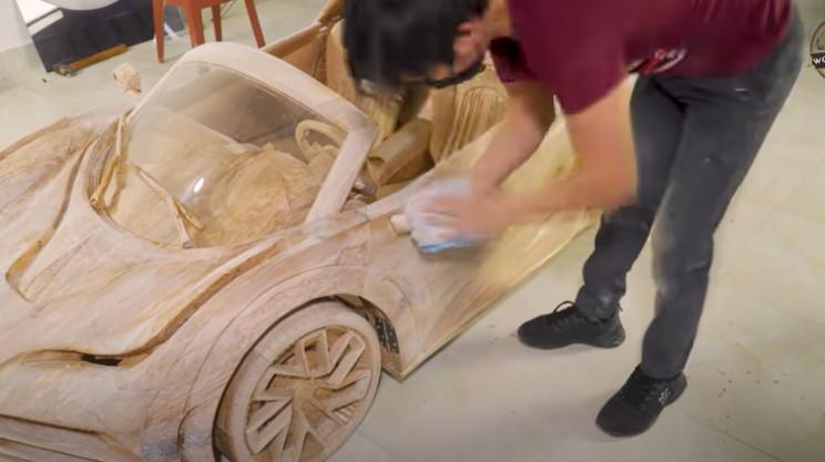 diy wooden bugatti windscreen