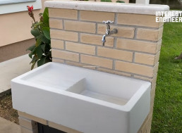 Here Is How to Build Your Own Outdoor Sink Unit