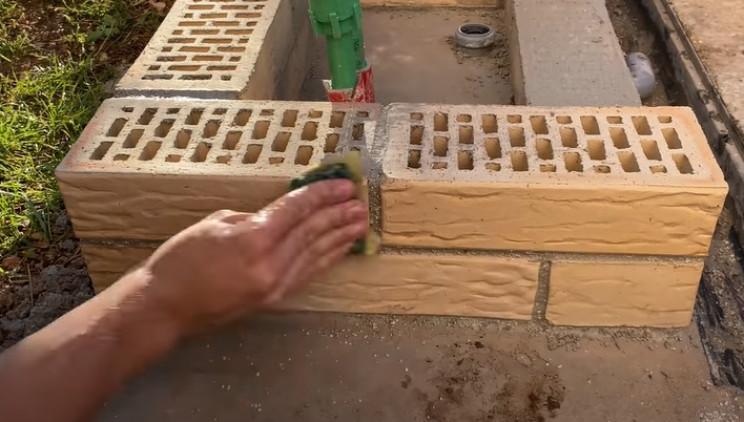 outdoor diy sink mortar joints
