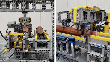 Lego Enthusiast Builds a Mini Firewood Factory That Actually Works
