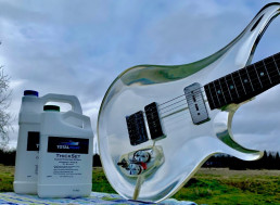 YouTuber Builds Clear Electric Guitar Out of Epoxy, and It Looks Amazing