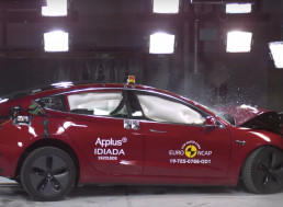 Watch Tesla's Model 3 Being Tested for Safety in This Crash Test Video