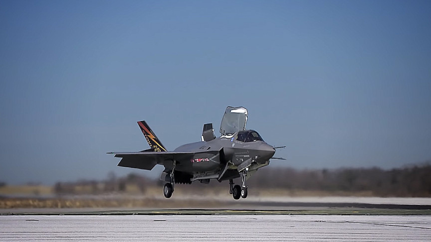 F-35B Shows off Its Short Take off and Vertical Landing Capabilities