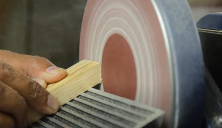 diy yarn winder angle wood