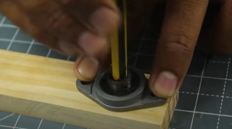 diy yarn winder bearing