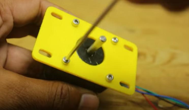 diy yarn winder stepper motor
