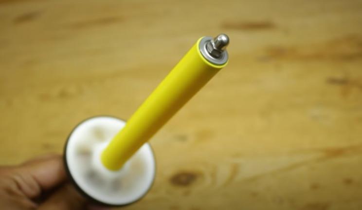 diy yarn winder threaded rod