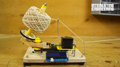 Building a DIY Arduino Yarn Ball Winding Machine
