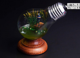 Turn Your Old Bulbs into Fisherman Dioramas with This Handy Tutorial
