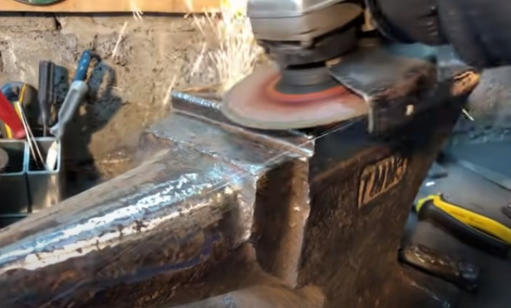 diy anvil restore weld clean
