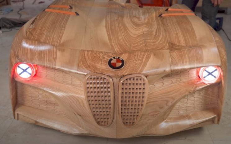 diy wooden bmw 328 test headlights