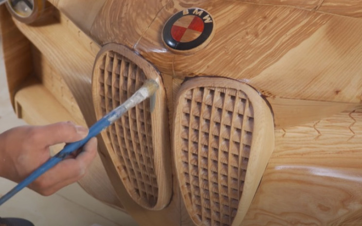 diy wooden bmw 328 paint grill