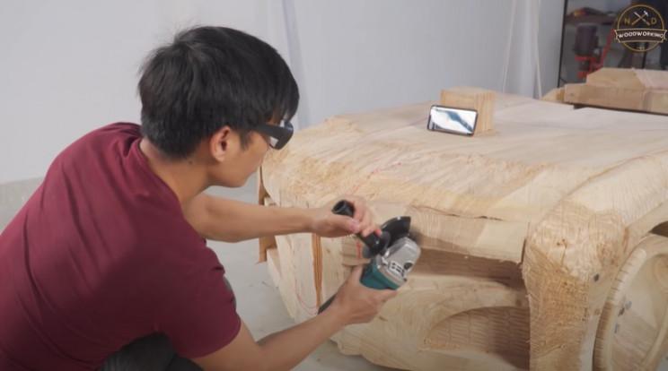 diy wooden bmw 328 refine shape