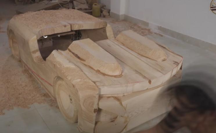 diy wooden bmw 328 rough design