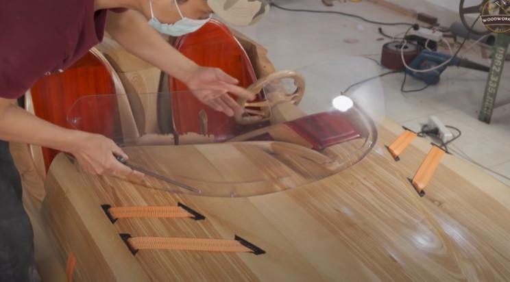 diy wooden bmw 328 windshield