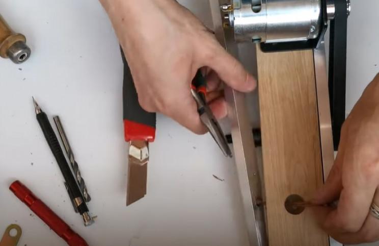 diy miter saw wire up button