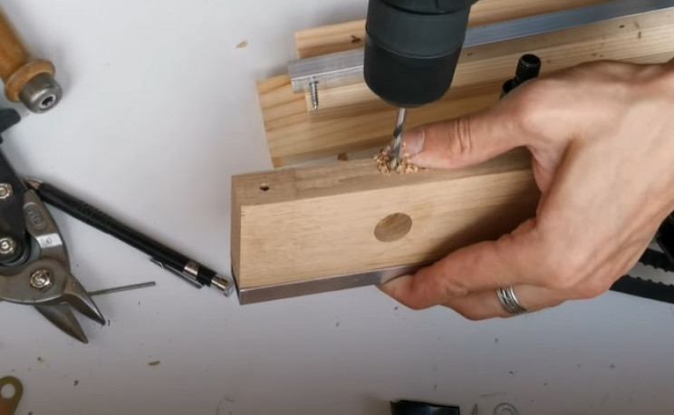 diy miter saw button wire penetration