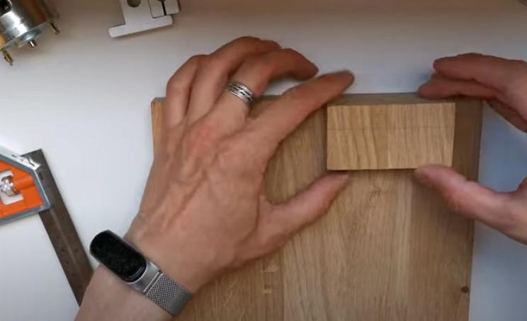 diy miter saw glue small block