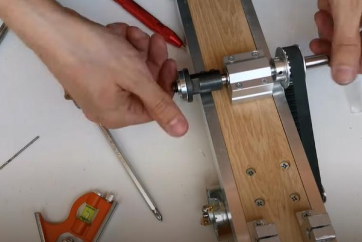 diy miter saw blade hub