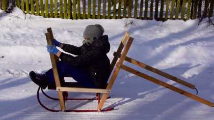 DIY Project Turns Sled Into a Snow 'Boat' That You Can Row
