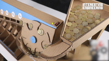 This DIY Coin Sorting Machine Is Made out of Cardboard