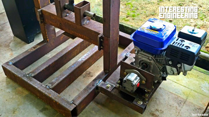Make Your Own Hydraulic Wood Splitter With This Simple Guide