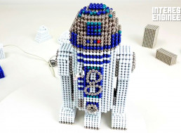 Building Your Own Star Wars R2-D2 Model with Magnetic Balls