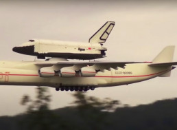 RC Antonov Plane Carries and Launches Soviet Space Shuttle