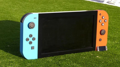 Guy Creates The 'World's Largest' 65-Pound Nintendo Switch