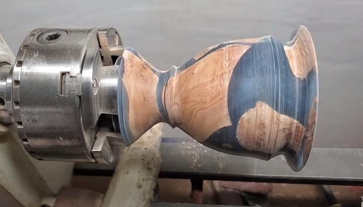 diy vase sanding complete