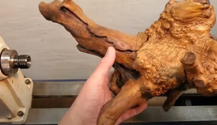 diy driftwood vase prepare