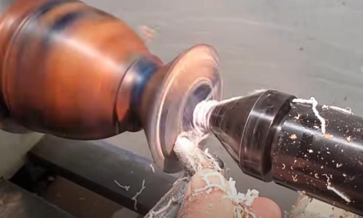 diy scrap wood vase base