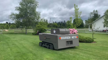 Youtuber Transforms His Riding Lawnmower Into a Small Tank