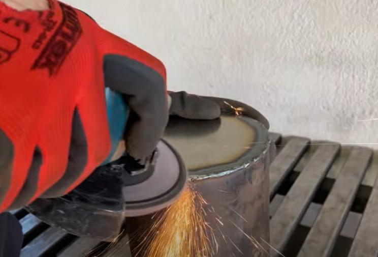 diy outdoor grill clean weld