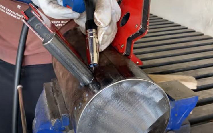 diy outdoor grill weld small pipe