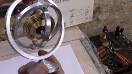 Make Your Own UFO Gyroscope at Home