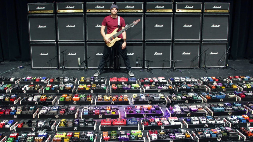 YouTuber Builds and Tests the World's Largest Guitar Pedalboard